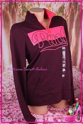 Victoria's Secret PINK Half Zip Mockneck Yoga Sweatshirt Pullover Logo Red Small