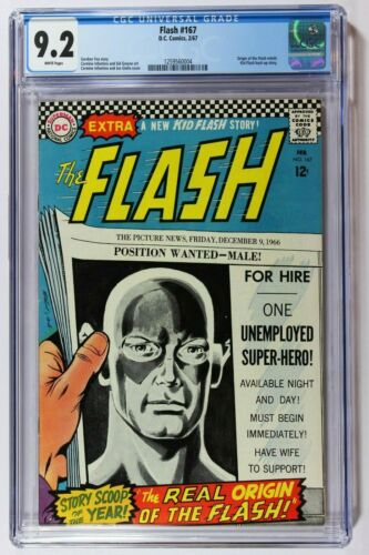 Flash 167 CGC 9.2 NM- (1959 1st Series DC) White Pages