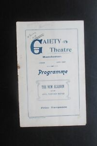 1907 GAIETY THEATRE MANCHESTER  THE NEW ALADDIN  PROGRAMME MUSICAL EXTRAVAGANCE