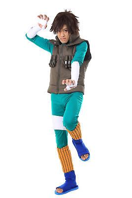 Naruto Shippuden Cosplay Costume Hidden Leaf Shinobi Team Guy Rock Lee 2nd Set