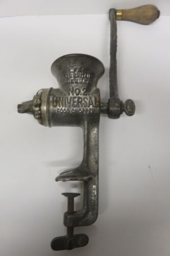 Antique UNIVERSAL No 2 Cast Iron MEAT GRINDER USA