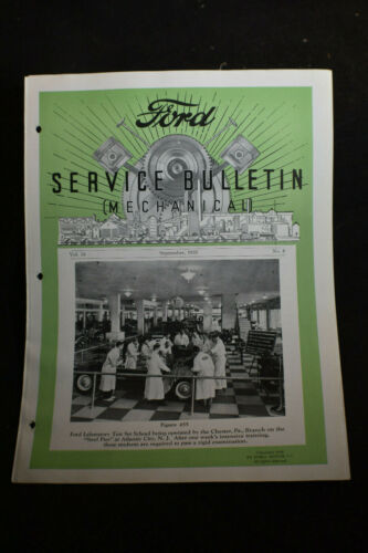 1935 Ford Service Bulletin MECHANICAL *Batteries*Lubrication*