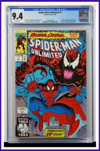 Spider-Man Unlimited #1 CGC Graded 9.4 Marvel May 1993 White Pages Comic Book.