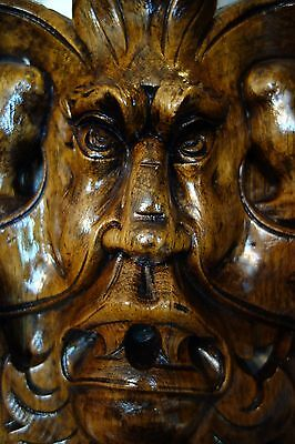 19C Venetian Gothic Carved Walnut Cherub/Satyr/Gargoyle/Mask Monumental Mirror
