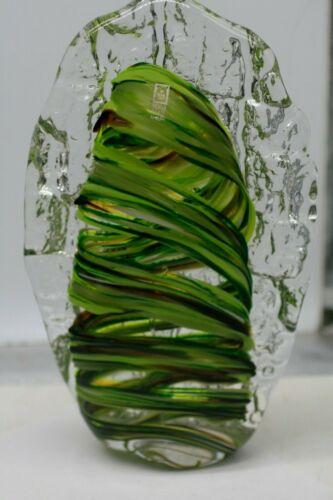 "Stunning Large Mdina Glass  Sculpture. Signed & Sticker. 10"" Tall"