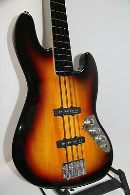 FENDER SQUIER VINTAGE MODIFIED JAZZ BASS FRETLESS SUNBURST JACO SUNBURST PREOWEN