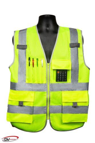 DSV Standard 8 Pockets Class 2 High Visibility Reflective Safety Vest