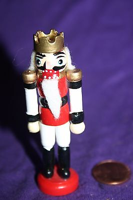"Vintage wood Christmas ornament Soldier 3"" Crown"