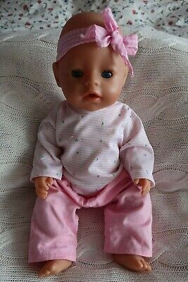 "Zapf Creation 17"" Baby Born Interactive Doll and Instructions"