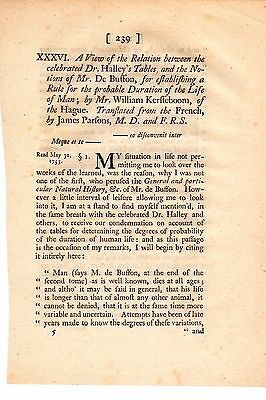 Human Life Expectancy - Two 18th Century Scientific Papers