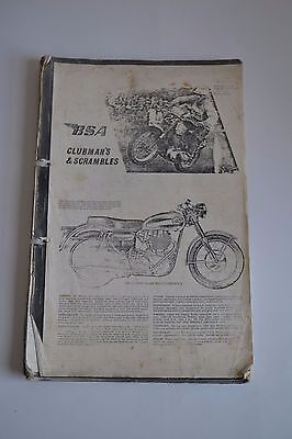 BSA CLUBMAN'S & SCRAMBLES PUBLICATION MISC DOCUMENTATION 1960's b
