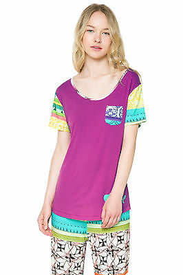 DESIGUAL Pyjama Shirt Modell TS SS PLAIN BOTANICAL DREAM