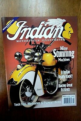 9 Indian Motorcycle Illustrated Magazines /& Salute Motocycle Chief Scout Four