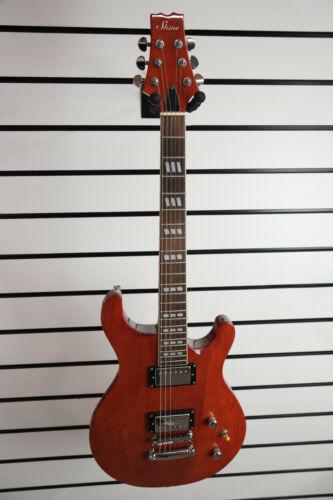 Shine SCA850 Super Strat Electric Guitar With Set In Neck Orange - Z86