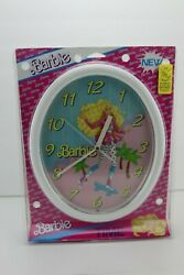 Extra Large Vintage Barbie Doll Wall Clock 1989 NEW NIP