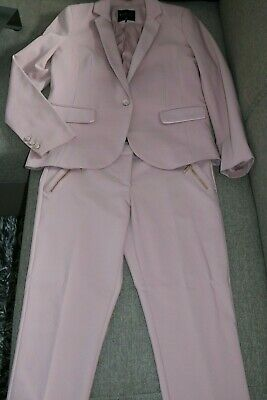 Mohito Damen Business Anzug Kostüm Hosenanzug Jacket Blazer Hose Gr. 38 M Rosa