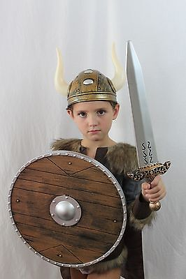 Viking Warrior Costume Halloween Thor Cape Shield Kid Medieval Lord MSRP $95 NEW](Teen Thor Costume)
