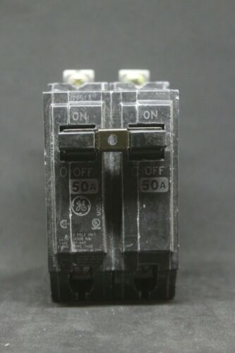 GE GENERAL ELECTRIC NEW CIRCUIT BREAKER 2 POLE  50 AMP 240 VAC