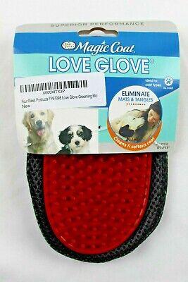 Four Paws Magic Coat Dog Grooming Love Glove Soft Flexible Gentle All Coats New Magic Coat Glove