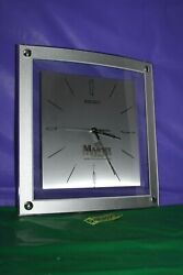 Seiko Large Square Battery Operated Wall Clock Majesty Jewelers St. Maarten