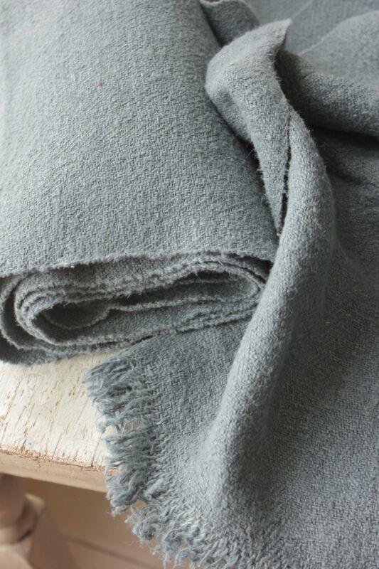 Vintage linen dyed indigo blue 8 YDS homespun European hemp upholstery fabric