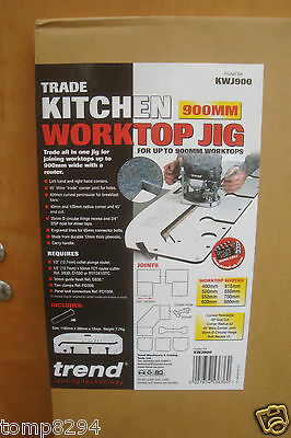 TREND KWJ900 900MM  KITCHEN WORKTOP ROUTER JIG + DIAMOND CREDIT CARD