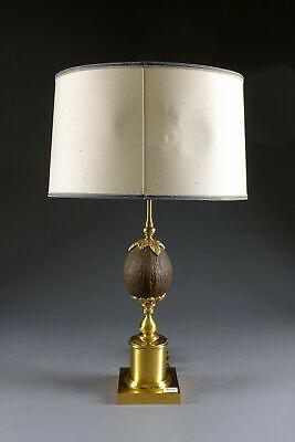 Table Lamp Vintage 1950s Crystal Glass Heavy Mid Century Rare