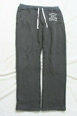 """Abercrombie & Fitch Athletic Sweats Pants Gray Mens Cotton Medium 34"""" x 32"""" AP18"""