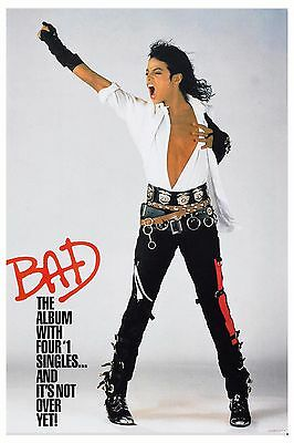 Motown & Soul: Michael Jackson * BAD * Promotional Poster 1987