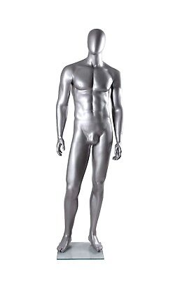 Metallic Silver Male Mannequin
