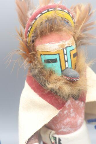 VTG Native American Hopi Kachina Katsina Aholi w/ Cloak Katsina Doll Wood Carved