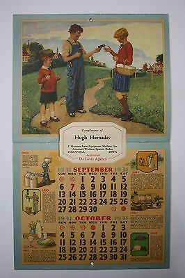 Original 1931 Advertising Calendar -  Iowa DeLaval Dealer