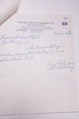 1940 Lamson Goodnow Cleveland Bakery Equipment Co OH Handwritten Ephemera P676C for sale  Shipping to Nigeria