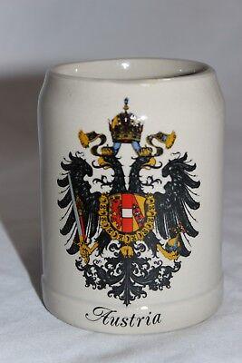 Vienna Austria MF Beer Stein Mug Coat of Arms Crest .25 L