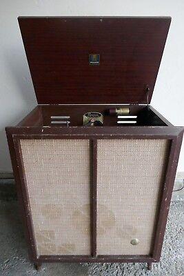 Vintage Emerson Mid Century HiFi Tube Record Player Radio Console Model (Console Tube)