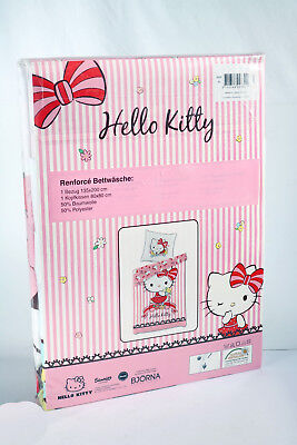Hello Kitty Renforce Wende Bettwäsche Bettbezug 135x200 + Kissenbezug 80x80cm SE