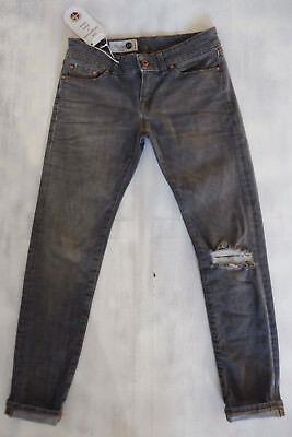 THE ITALIAN JOB Made in Italy Skinny Jeans grau Bio-Öko-gefärbt used W26/L28 NEU - Gefärbte Skinny Jeans