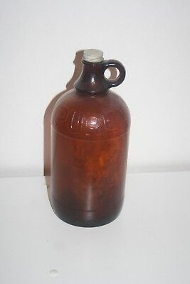 Used, VINTAGE PUREX 1/2 GALLON BOTTLE JUG AMBER BROWN GLASS -  WITH LID for sale  Shipping to Canada