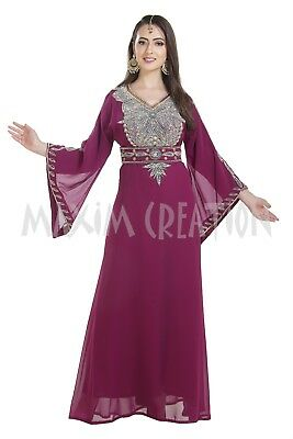 Modern Fitted Party Wear Farasha Soiree Evening Gown Ladies Maxi Dress 7032 - Soiree Party