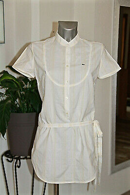 Bonito Vestido Blusa Algodón Blanco Lacoste Talla Pequeño 42 Real 40 Fr segunda mano  Embacar hacia Spain