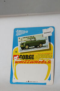 CORGI-JUNIORS-16-LAND-ROVER-PICK-UP-TRUCK-CARDBACK-BLISTERPACK-CARD-LOT-A