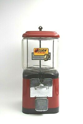 Acorn 1c Peanut / Candy Gum Ball Machine Circa 1950's Glass Globe