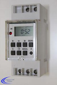 Digitale Zeitschaltuhr für Hutschiene / Einbau Zählerschrank oder Schaltschrank