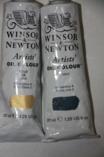 Winsor & Newton Oil Paint-INDIGO & GOLD- Both Series 2