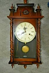 LINDEN - 31 Day Chiming Wall Clock - Fancy Design, Works Great !