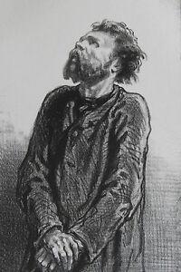 GAVARNI-Lithographie-originale-serie-PAR-CI-PAR-LA-Un-tenor-incompris