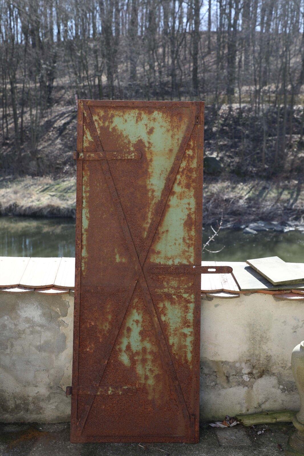 Industrielle Metall Tür genietet um 1900