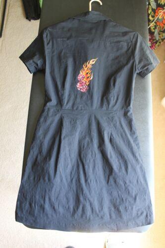 Dragonfly Nikki Sixx Motley Crue Black Womens Dress Rock N Roll Large L Dice