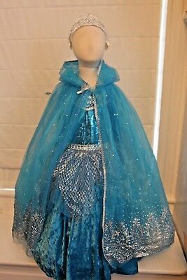 Blue Ice Princess Queen Frozen Elsa Complete Costume Boutique Girls Kids (Blue Ice Queen Kostüm)