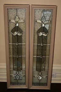 2 new odl entry door decorative leaded glass inserts approx 10 034 x 38 034 ebay - Odl glass door inserts ...